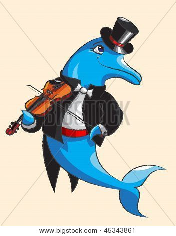 Dolphin And Violin