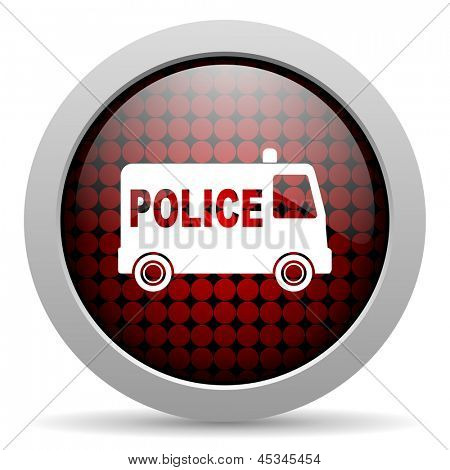 police glossy icon