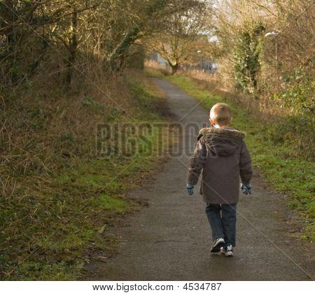Young Boy Walking
