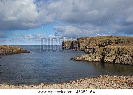 Rugged West coast of Orkney's mainland, Scotland poster