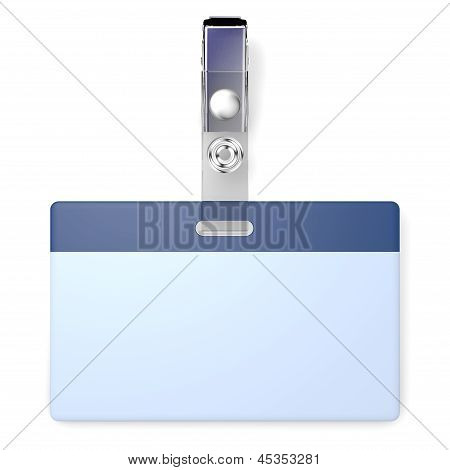 Blank badge with copyspace
