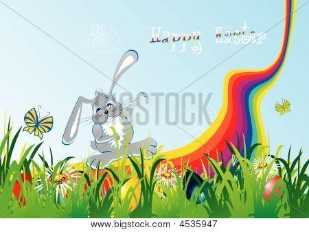 Cartoon Easter Foliage