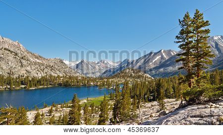 Pristine Mountain Lake In The Sierra Nevada