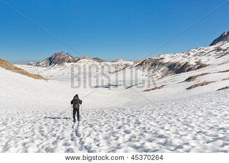 Hiking In Stunning Alpine Scenery