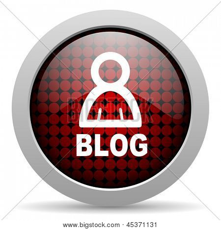 blog glossy icon