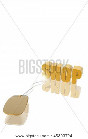 Computer mouse And Shop Icon