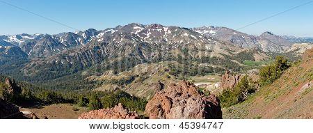 Sierra Nevada Panorama At Sonora Pass