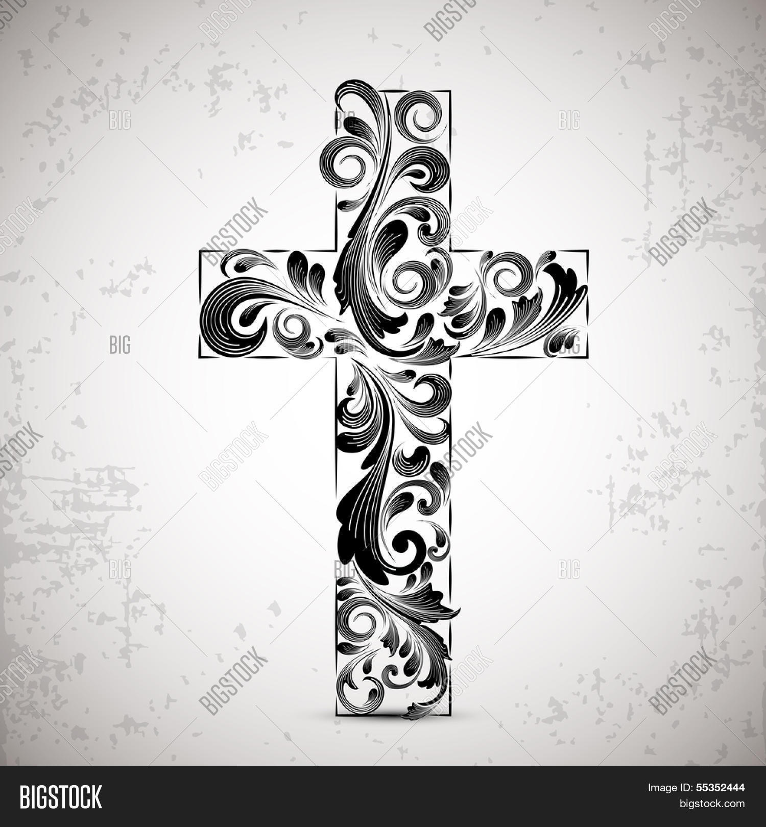 Merry christmas happy vector photo free trial bigstock merry christmas and happy new year 2014 celebration concept with stylish christian cross on abstract background voltagebd Image collections