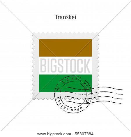Transkei Flag Postage Stamp.