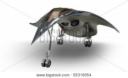 Futuristic alien 3D military spaceship