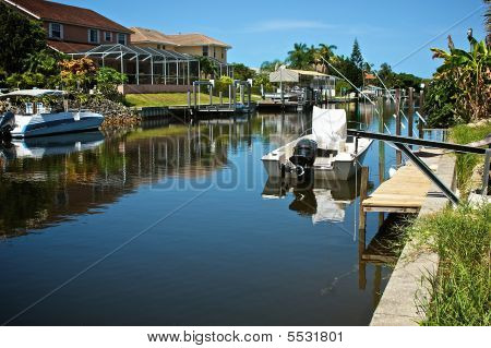 Residential Canal In Florida