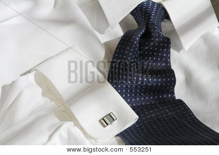 Shirt And Tie With Cuff Link
