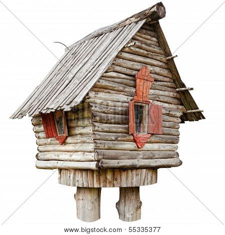 fairy witch house on chicken legs from folklore isolated poster