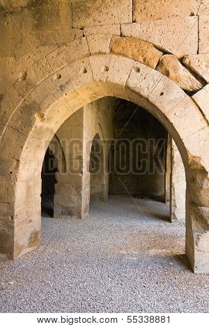 Multiple Arches And Columns In The Caravansary On The Silk Road, Turkey