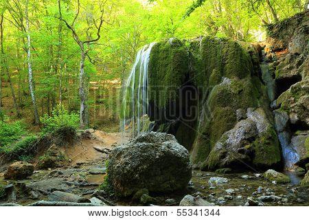 Waterfall Silver Jets, Grand Canyon Of Crimea, Crimea, Ukraine