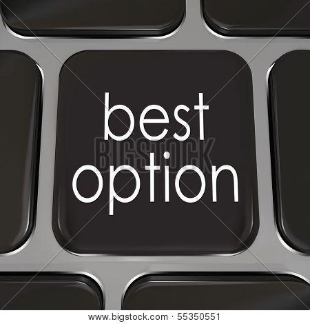 Best Option Computer Keyboard Key Internet Web Shopping