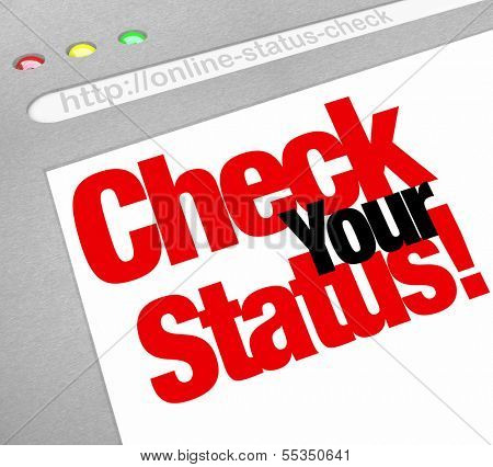 Check Your Status Words Website Online Update