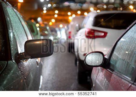 Traffic Jam In Evening