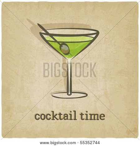 old background with cocktail
