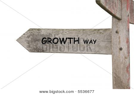 Growth Themed Street Sign