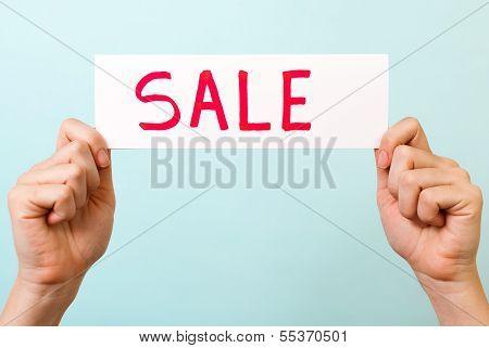 Sale Message Concept