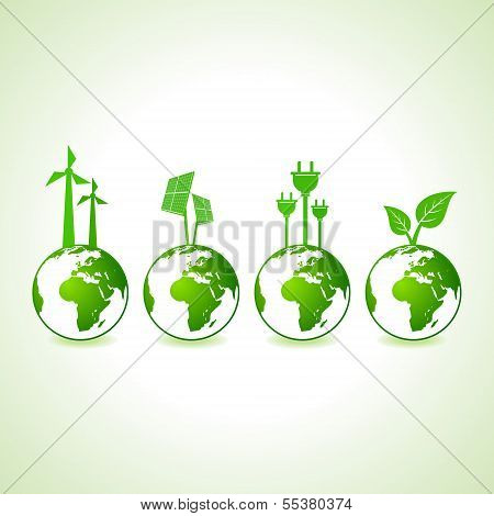 Ecology concept with earth stock vector