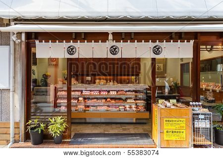 Japanese sweet shop in Nagasaki Chinatown