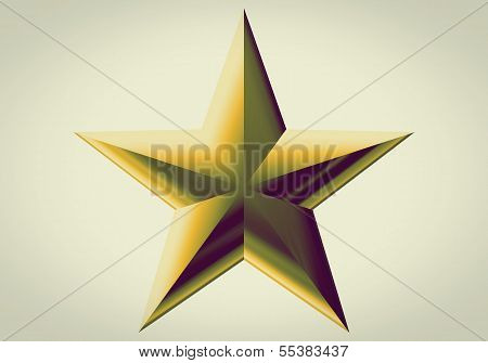 Gold Decoration Star