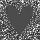 little white leaves monochrome graphic love feelings wedding invitation card romantic delicate background on dark poster