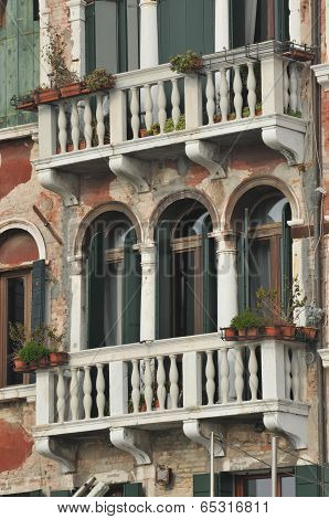 Details Of An Old Venetian Building