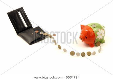 Piggybank And Wallet