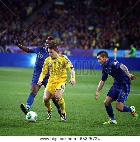 Fifa World Cup 2014 Qualifier Game Ukraine Vs France