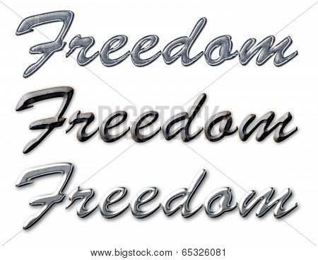 Freedom Text Metal