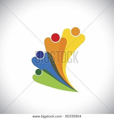 Family Concept Vector - Bonding Of Family Members By Love