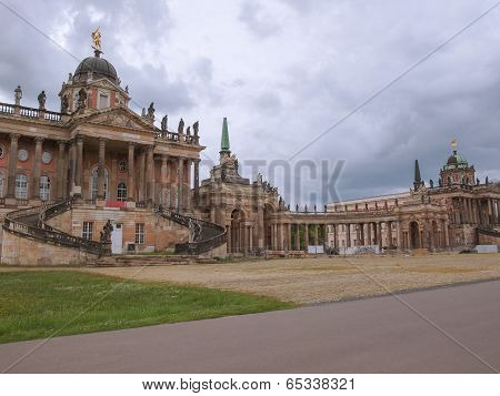 Ruins of the Neues Palais new royal palace in Park Sanssouci in Potsdam Berlin poster