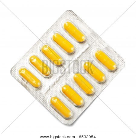 Package Of Yellow Capsules