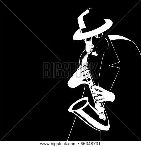 Jazzman in the dark