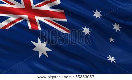 Flag of Australia waving in the wind
