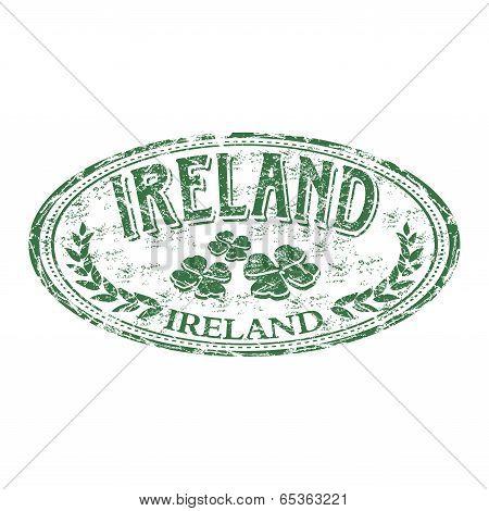 Ireland grunge rubber stamp