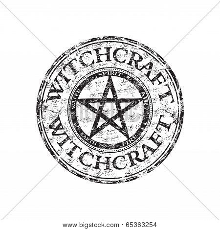 Witchcraft grunge rubber stamp