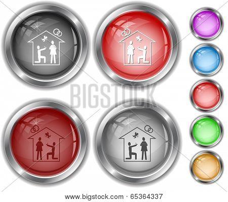 Home affiance. Internet buttons.