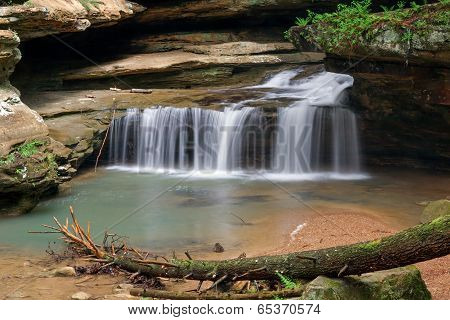 Waterfall At Old Man's Cave