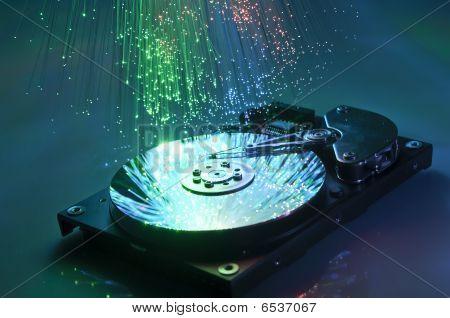 harddisk with fiber optical