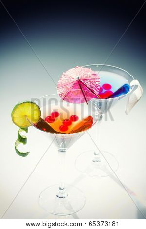 Molecular mixology - whisky acocktail and raspberry sphere