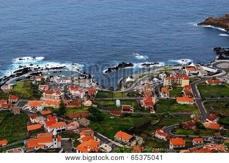 View of natural lava pools in Porto Moniz, Madeira