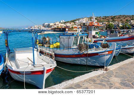 Elounda Harbour. Crete, Greece