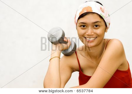 Young Woman Take a Break durung Fitness