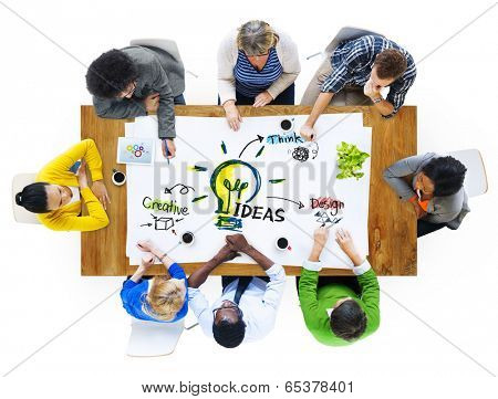 Multi-Ethnic Group of People Planning Ideas