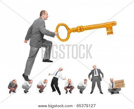 Golden key opens all doors. Bribery metaphor.