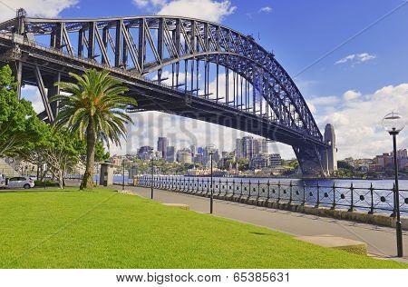 Sydney Harbour Bridge with City Skyline, Australian Icon located in Sydney, Australia